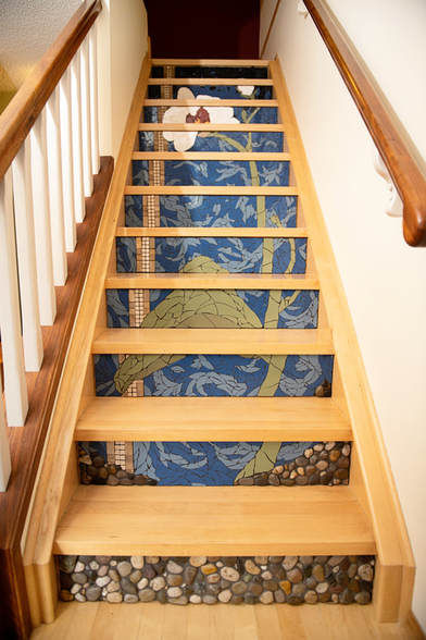 WowFactor Mosaics After Staircase Mosaic